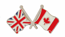 Canada and United Kingdom Friendship Flag Pin Badge
